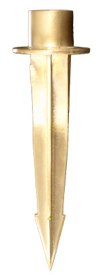 Solid Brass Outdoor Fixture Stake